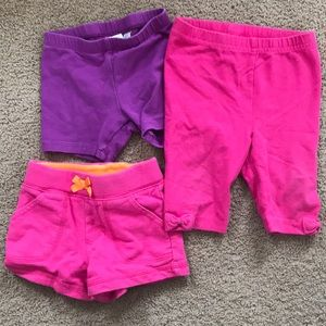 Other - 3 pair baby girl shorts - size 12 months